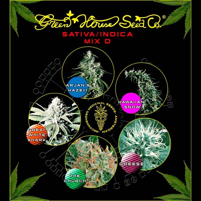 Mix - Sativa/Indica D - GreenHouse - Seed Banks