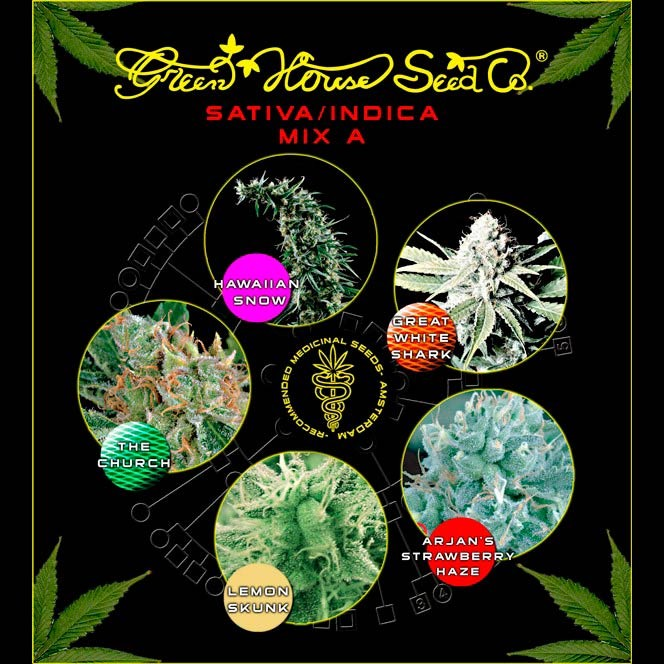 Sativa / Indica Mix A - GreenHouse - Seed Banks